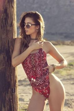 Agua Bendita - Gooseberries - Red Bandana Swimsuit