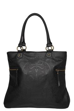 Loungefly - Washed Embossed Skull Print Tote