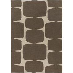 Scion Hand-Tufted Dark Brown/Khaki Area Rug