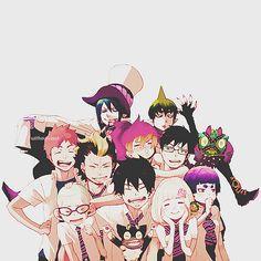 Ao no exorcist, Blue exorcist, Rin, Yukio, Renzou, Bon, Konekomaru, Shiemi, Izumo, Mephistos, Amaimon, Shura