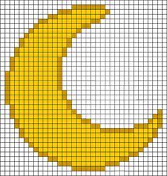 Moon grid pixel art