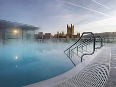 The UK's Only Natural Hot Springs At Thermae Bath Spa | Bath, England. The best spa in Britain!!