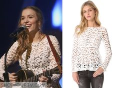 Nashville: Season 3 Episode 15 Maddie's Lace Peplum Top