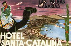 Artist Unknown, Hotel Santa-Catalina - Las Palmas Canarias (luggage label), 1950 ca.