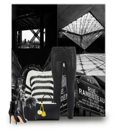 """""""60-Second Style: Oversized Sweater"""" by fashionbrownies ❤ liked on Polyvore featuring Yves Saint Laurent, Inverni, Gianvito Rossi, Frame Denim, Fendi and sweaterweather"""
