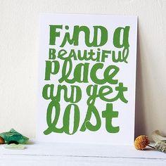 beautiful place print