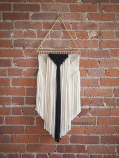 Handmade Woven Wall Art - The Valentina Long - READY TO SHIP by TheUrbanLoomShop on Etsy