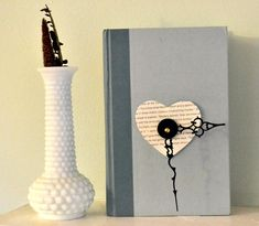 DIY book clock....the possibilities are endless!