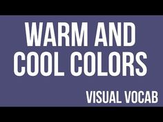 Warm and Cool Colors defined - From Goodbye-Art Academy Elements Of Art Color, Art Videos For Kids, Art Rules, Art Terms, Warm And Cool Colors, Principles Of Art, Popular Art, High School Art, Art Academy