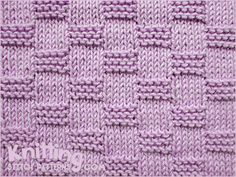 Garter Block | Knit and Purl combinations - Skill level: beginner. Knitted in a multiple of 10 sts + 5 and 12-row repeat.