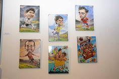 Nuestro aporte a la feria. Caricaturas de Carlín dedicados a las estrellas del mundial de Sudáfrica 2010 y dos caricaturas que trajimos recientemente de Colombia / #sports #soccer #fútbol #colección #soccerfan