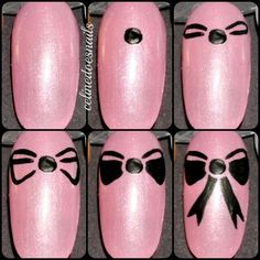 Easy and Cute Bow Nail Art Tutorial