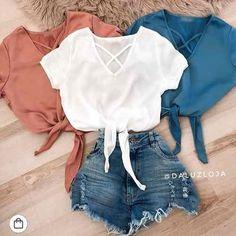 7ef913a37 cropped blusa viscose tendencia moda feminina decote 2018 Roupas Tumblr  Baratas