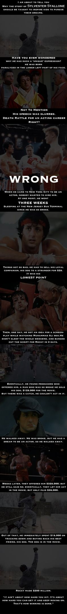 Sylvester Stallone's story should be told to everyone