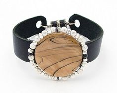 Focal Bead Leather Cuff