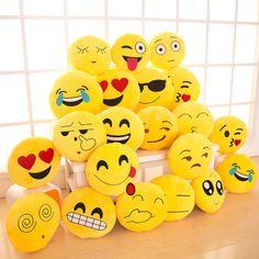 13-Inch-Cute-Emoji-Emoticon-Cushion-Pillow-Round-Yellow-Stuffed-Plush-Soft-Toy