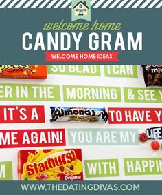 Welcome Home Candy Gram