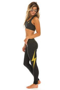 We're stoked to announce the first release in our active wear collection! True to the Aviator Nation brand these leggings are all made here in California and super comfy and eye-catching. Theleggingsare not only super comfortable but they are also supportive and breathable and will 100% keep their shape for years of