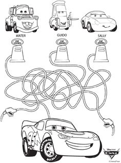 disney movies coloring pages | Disney Cars Maze Coloring Page | crayola.com