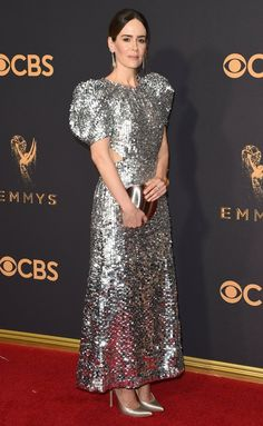 Emmys 2017 Best and Worst Dressed on the Red Carpet - Sarah Paulson in Carolina Herrera
