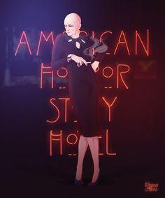 Liz Taylor (Denis O'Hare) - American Horror Story HOTEL. #fanart #art #draw #illustration #digitalart #digitalpaint #character #liztaylor #americanhorrorstoryhotel #ahs #series #tv