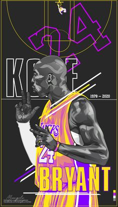 """""""The most important thing is to try and inspire people so that they can be great in whatever they want to do."""" -Kobe Bryant A tribute art for Kobe. Rest in peace Kobe & Gigi, you will always be in our hearts! Kobe Bryant Lakers, Kobe Bryant Kids, Kobe Bryant Daughters, Kobe Bryant Michael Jordan, Kobe Bryant Family, Basketball Kobe, Bryant Basketball, Cool Basketball Wallpapers, Nba Players"""