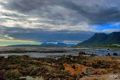 A seascape at Sandbaai near Hermanus, South Africa.