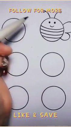 Art Kits For Kids, Easy Art For Kids, Easy Drawings For Kids, Drawing For Kids, Drawing Classes For Kids, Learning To Draw For Kids, Kid Drawings, Drawing Tutorials For Kids, Hand Art Kids