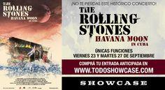 La película The Rolling Stones Havana Moon en Cuba llega a la pantalla grande de Showcase  ÚNICAS FUNCIONES VIERNES 23 y MARTES 27 de SEPTIEMBRE Ya se encuentra disponible la venta anticipadas de entradas en www.todoshowcase.com  SHOWCASE estrena la película de uno de los conciertos más espectaculares que brindaron LOS ROLLING STONES en su gira por Latinoamérica el año pasado el concierto histórico y emblemático que brindaron en la ciudad de La Havanna (Cuba). Esta película se presentará en…