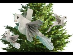 Making a Victorian Dove for Christmas Tree