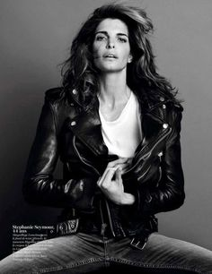 Stephanie Seymour in BLK DNM Leather Jacket 1 Photographed by Inez & Vinoodh