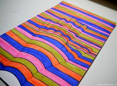 www.juf-lisanne.nl Knutselen in de bovenbouw: 3D hand tekenen met stift of potlood / craft for kids: 3D hand drawing with pencil or sharpie.