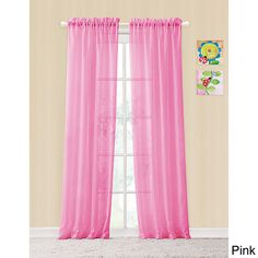 Vcny Colette Rod Pocket Sheer Curtain Panel Pair