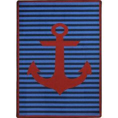 """The Conestoga Trading Co. Blue/Red Area Rug Rug Size: 5'4"""" x 7'8"""""""