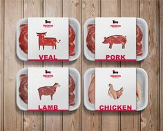 Мяснота: a butcher shop's identity by Tommaso Taraschi, via Behance