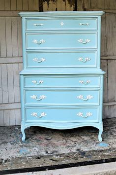 How To Whitewash French Provincial Furniture Salvaged Furniture, Paint Furniture, Furniture Makeover, Vintage Furniture, French Provincial Furniture, Small Paint Brushes, Gallon Of Paint, Wood Putty