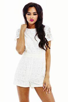 WHITE LACE ROMPER shopmodmint.com