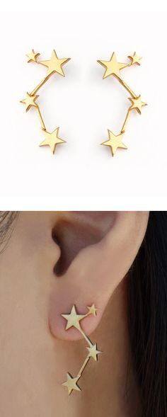 Constellation Earrings.. I love them!! But in silver please :)