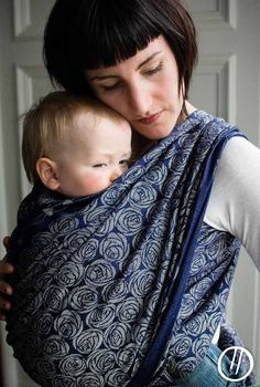Roses Eventide 50% combed Egyptian cotton, 50% linen. Baby Wrap #babywearing