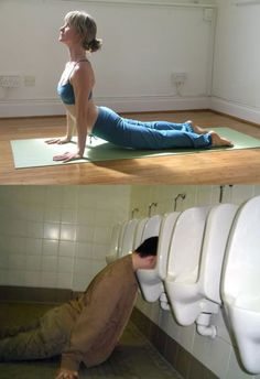 Yoga is easy, just add alcohol (10 Photos)