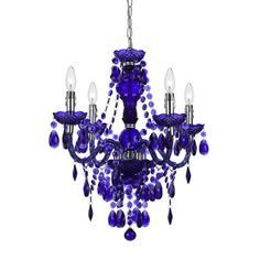 purple mini chandelier | AF Lighting Elements 8681-4H Naples 4-Light Mini Chandelier in Purple