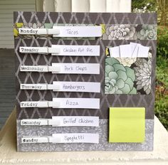 Weekly Meal Planner by MagnoliaLeaves on Etsy, $35.00