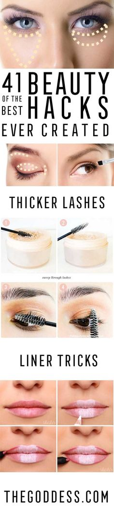Best Beauty Hacks Ever Created  Tips And Tricks For Skin Care Make Up Style