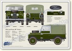 "// Land Rover Series One 86"" 1954-56 classic car portrait"