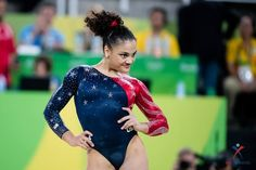 Laurie Hernandez on Floor at the 2016 Rio Olympics