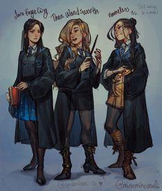 a garota corvinal \ corvinal garota + a garota da corvinal + garota de corvinal + a garota corvinal + garotas corvinal Harry Potter Anime, Fanart Harry Potter, Harry Potter Artwork, Mundo Harry Potter, Harry Potter Drawings, Harry Potter Facts, Harry Potter World, Ravenclaw, Hogwarts Uniform
