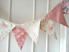 Pastel Shabby Chic Fabric Banners, Bunting, Garland, Wedding ...