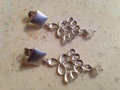 Moonstone Earrings  Rainbow Moonstone Jewelry   Silver by cdjali