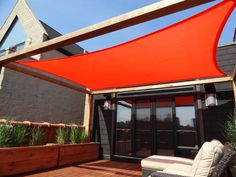 Roof Deck Pergola Shade Sail Urban Landscape Garden Design Outdoor Lounge Deck