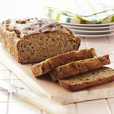 "Made with whole grains and fresh banana, this quick bread is a good source of fiber while not being too high in fat, says Zied. Blake also praised these ingredients for their nutritional benefits. ""Bananas give the bread a rich sweetness and a good dose of potassium which helps lower blood pressure, and whole grains have phytochemicals that reduce risk of cancer and heart disease,"" says Blake."